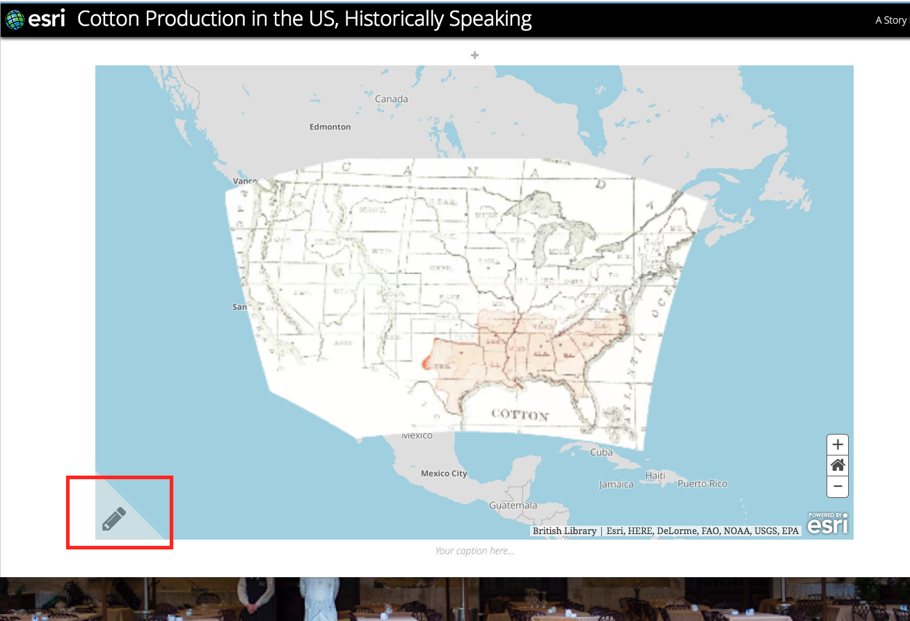 Working With A Georectified Map Part Carto Esri Story Maps Us Map You Can Edit